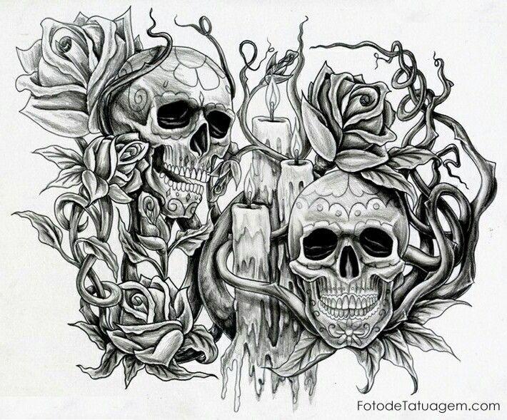 картинки черепов для выжигания