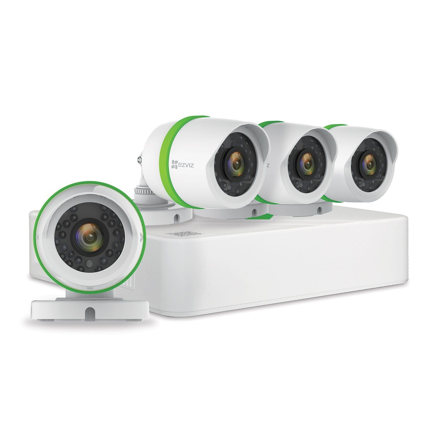 EZVIZ FULL HD 1080p Outdoor Surveillance System, 4 Weatherproof HD ...