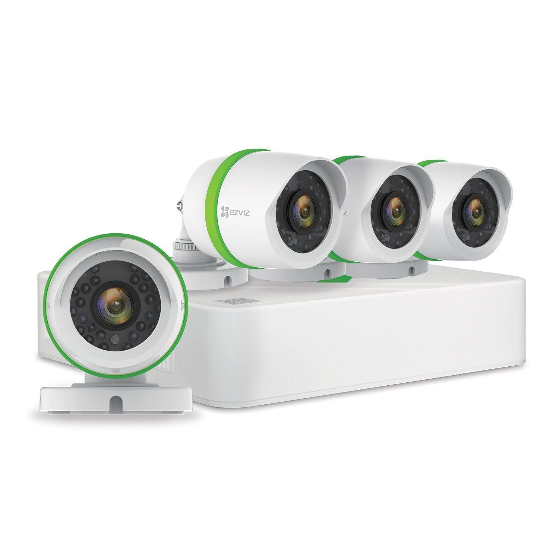 EZVIZ FULL HD 1080p Outdoor Surveillance System, 4 Weatherproof HD ...