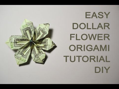 Easy Dollar Money Flower Origami Tutorial Diy Bills Gift Paper