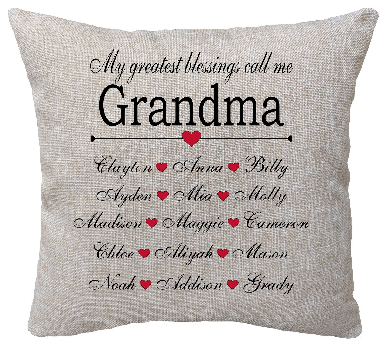 personalized mothers day pillow nana