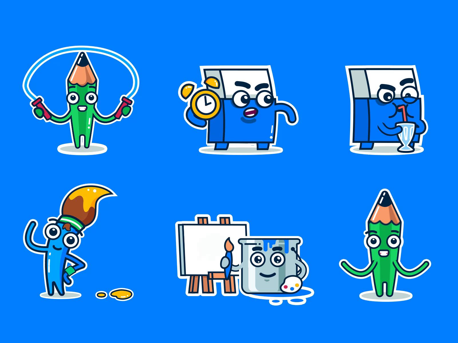 Gartic Io Stickers By Samir Taiar Stickers Sticker Design Game Interface