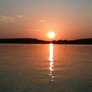 Oklahoma sunset in the water