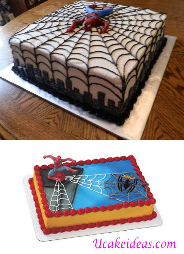 Square Spiderman Cake Ideas U Cake Ideas Cake Ideas Spiderman