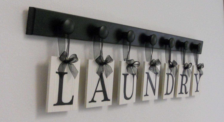 photo shelves wall decor Laundry Room Wall Decor Personalized