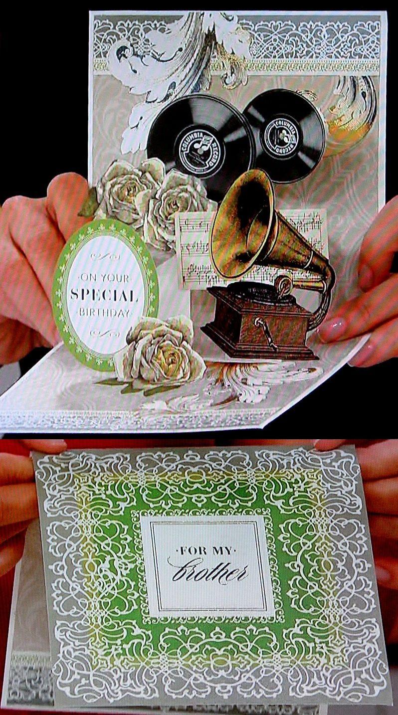 Engraved endearments pop up card making kit hsn