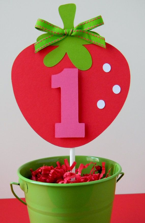 Strawberry Cake Topper Strawberry Smash Cake Topper