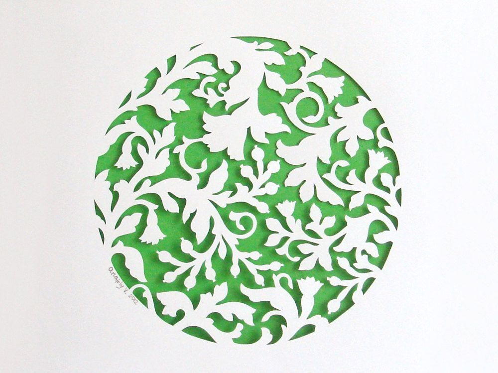 Summer Plants Handcut Papercut Poster With A Floral Pattern Awesome Papercut Patterns