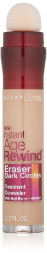 Maybelline New York Instant Age Rewind Eraser Dark Circles Treatment Concealer, Medium 30/130, 0.2-fluid Ounce - http://www.knockoffrate.com/beauty/maybelline-new-york-instant-age-rewind-eraser-dark-circles-treatment-concealer-medium-30130-0-2-fluid-ounce/