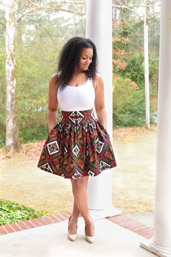 99df370fd03a17 African Print Flirty Skirt by MelangeMode on Etsy | Fashion en 2019 ...