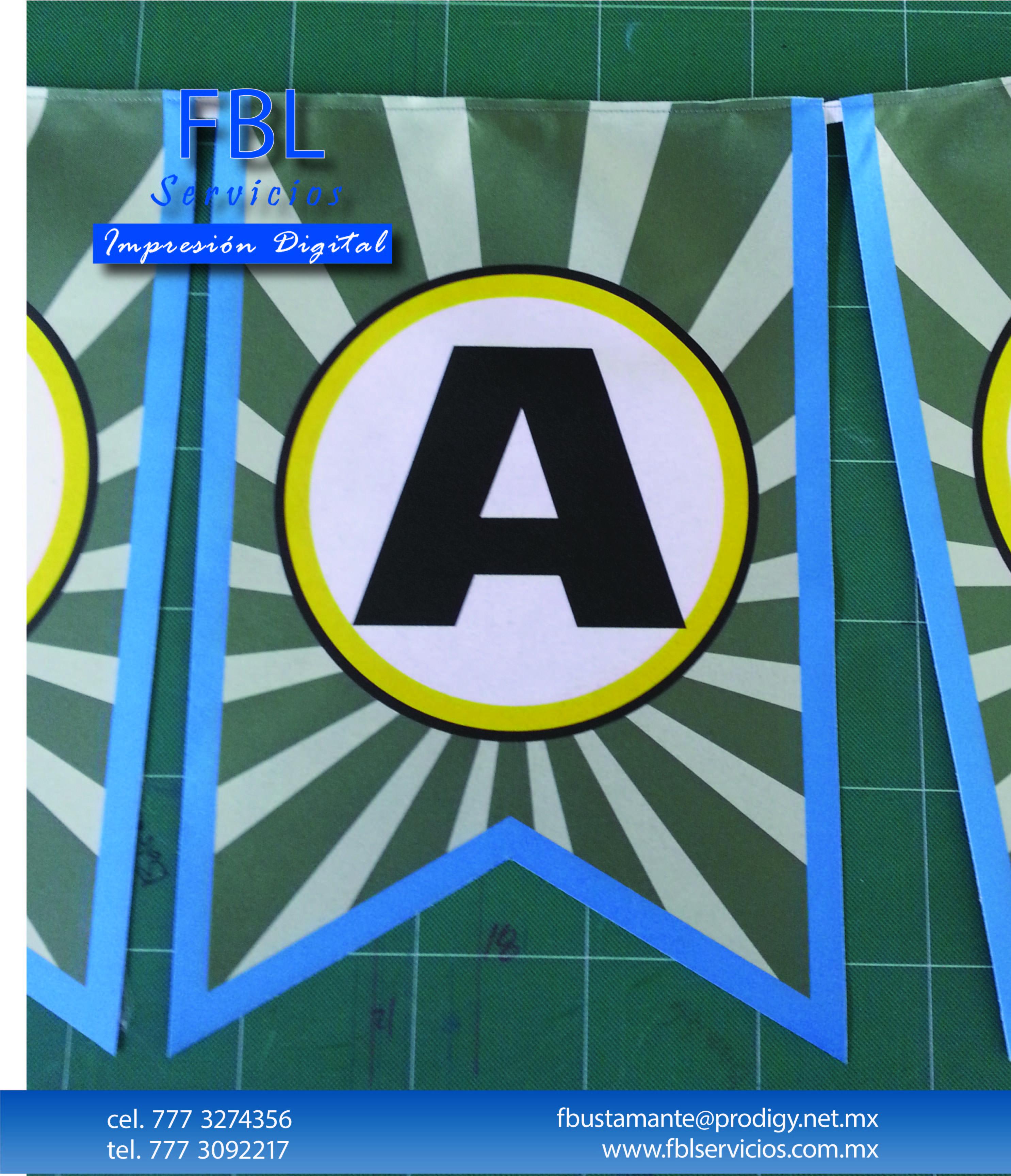 Banner en tela, estampado por sublimación.