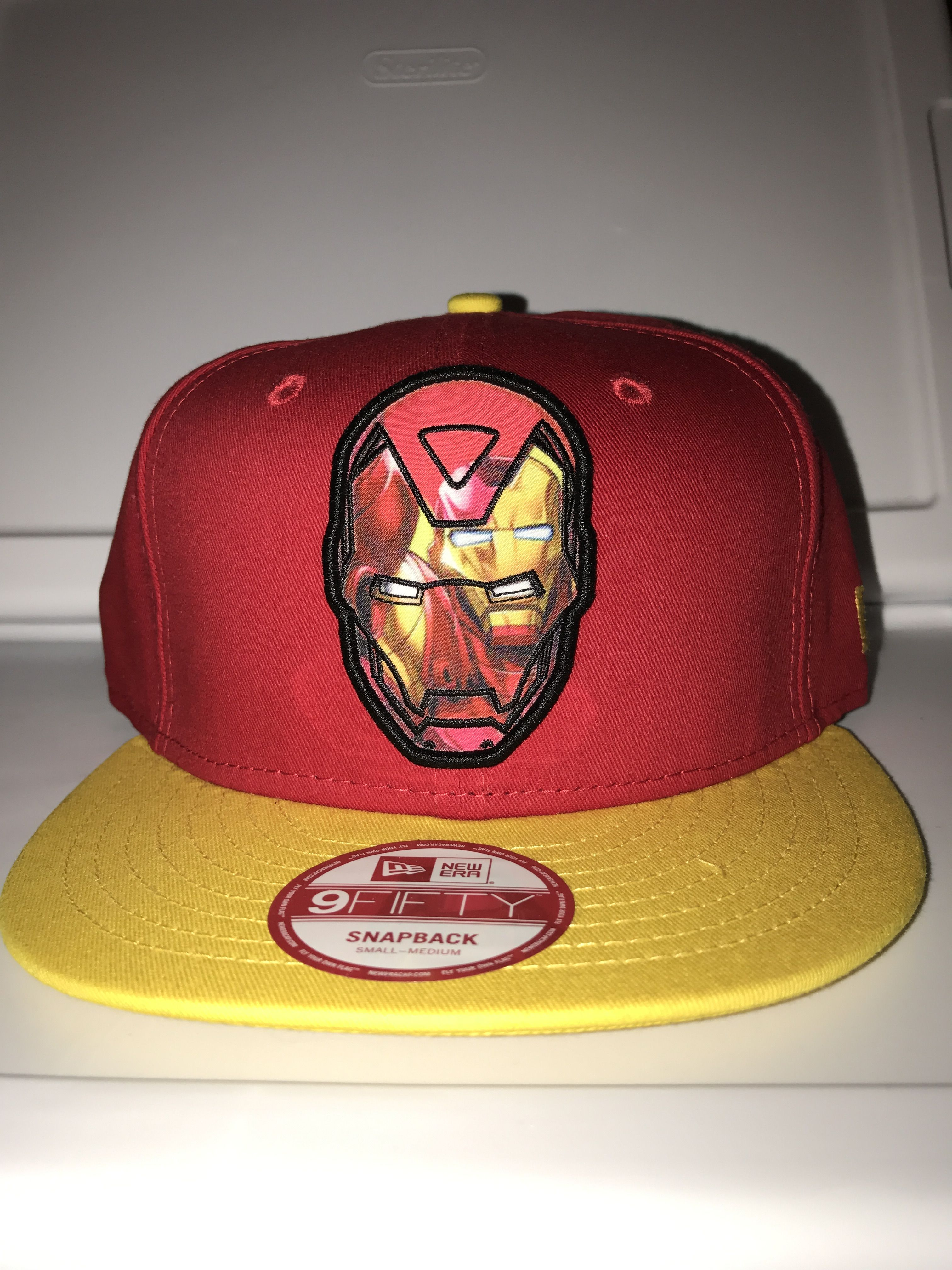 detailing 04a11 c9f64 New era marvel Iron Man within Iron Man and Iron Man head on the back  snapback