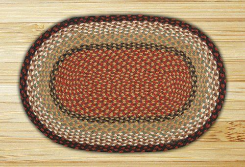 Earth Rugs Oval Blue//Natural Braided Rug