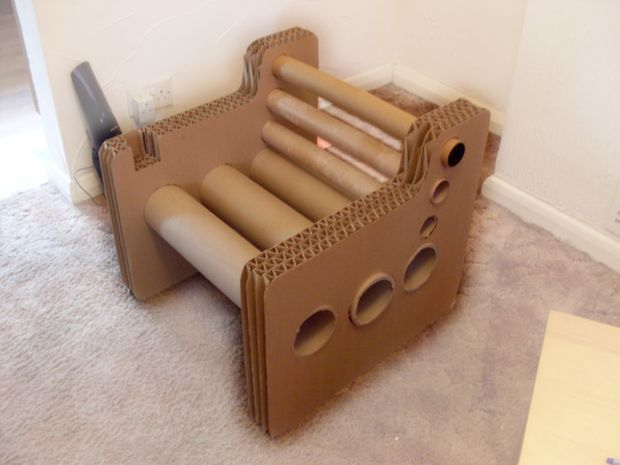 Zig Zag Structure Cardboard Chair Cardboard Chair Diy