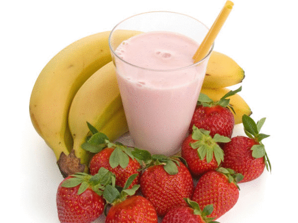 Strawberry-Banana-Flax Seed Smoothie