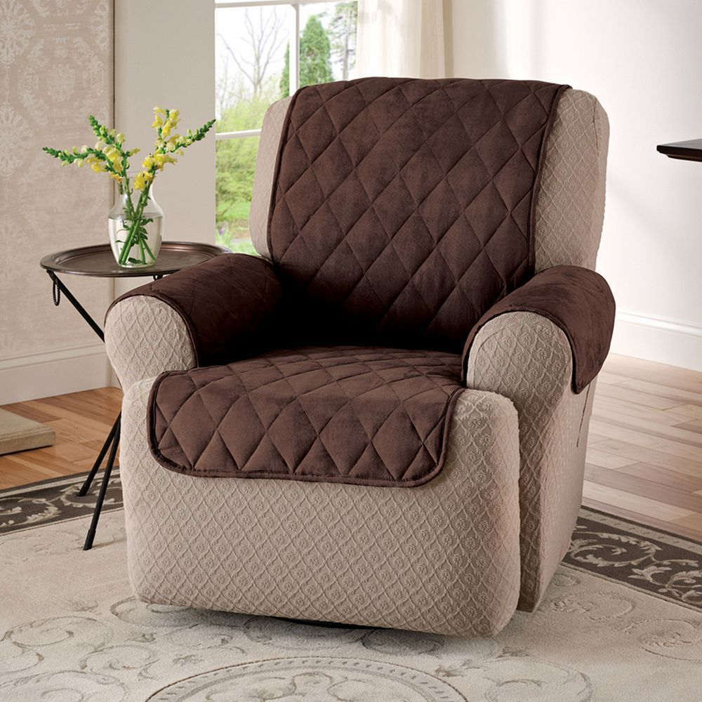 Jeffrey Home Suede Recliner Wing Chair Protector