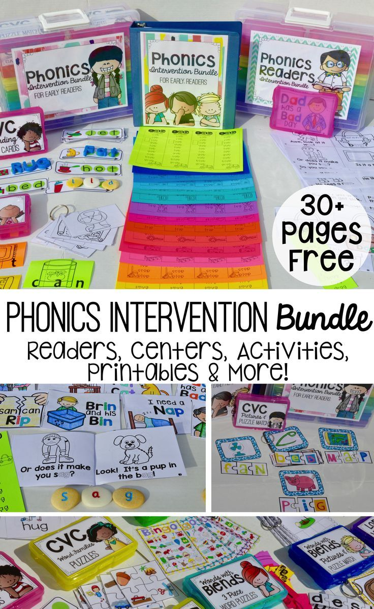 Phonics Intervention Free Download | Phonics activities, Phonics ...