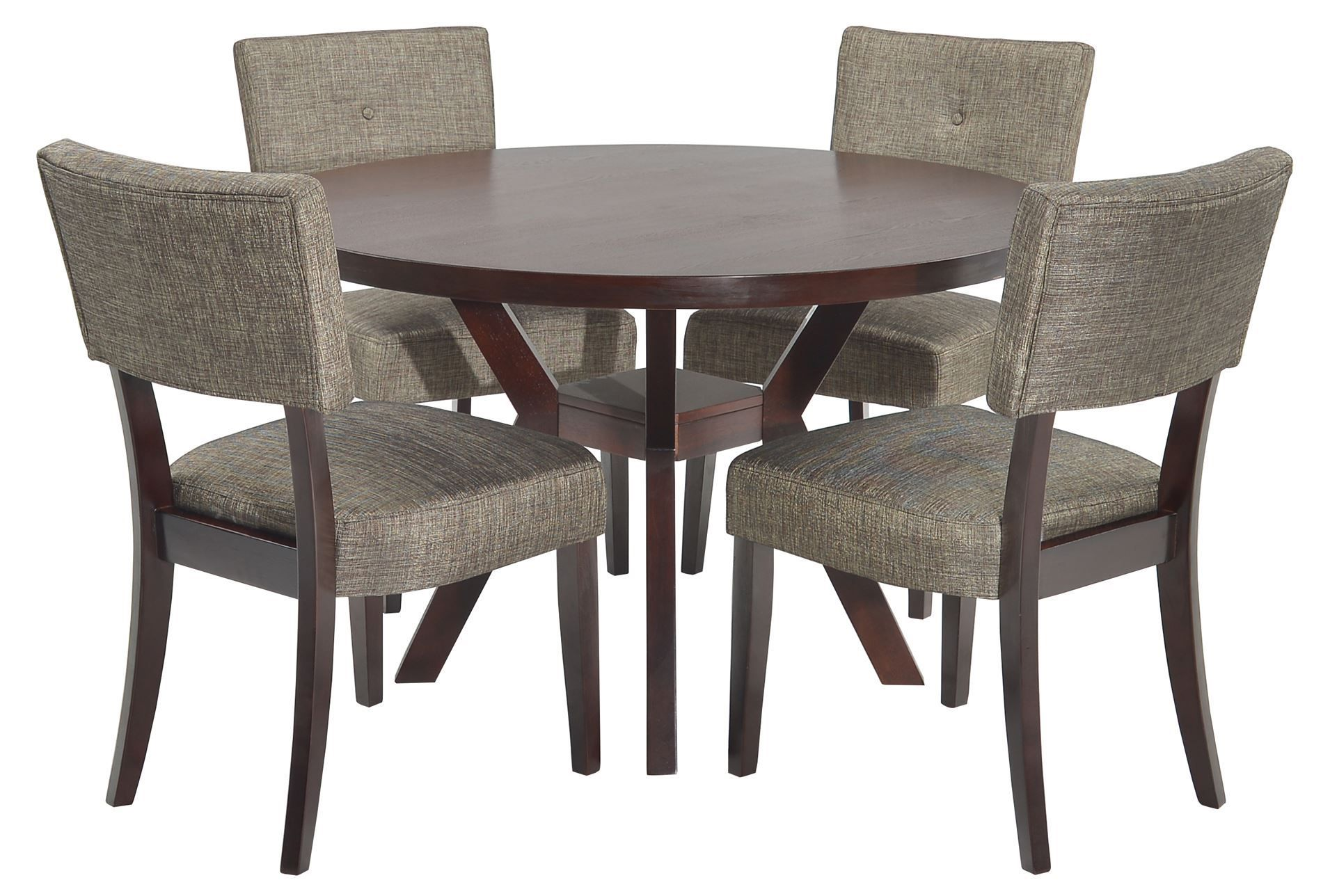 Macie 5 Piece Round Dining Set With Images Round Dining Set