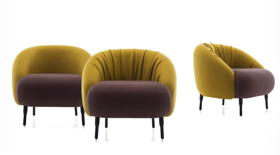 Bump armchairs by nigel coates for l'abbate