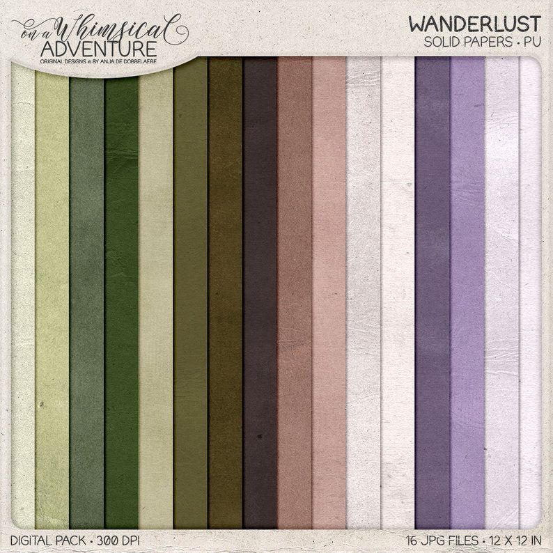 Rustic Digital Paper, Solid Color, Shabby Backgrounds