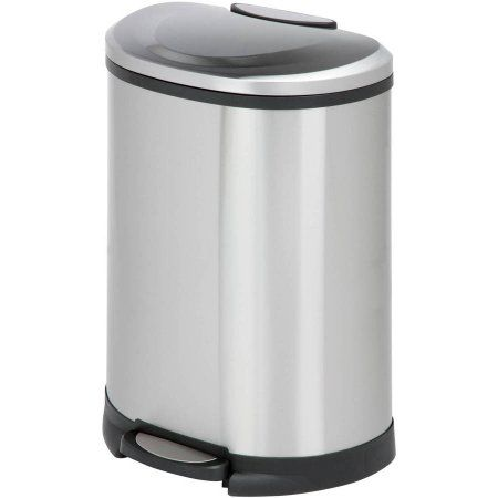 Honey-Can-Do 50-Liter Trashcan, Matte Black
