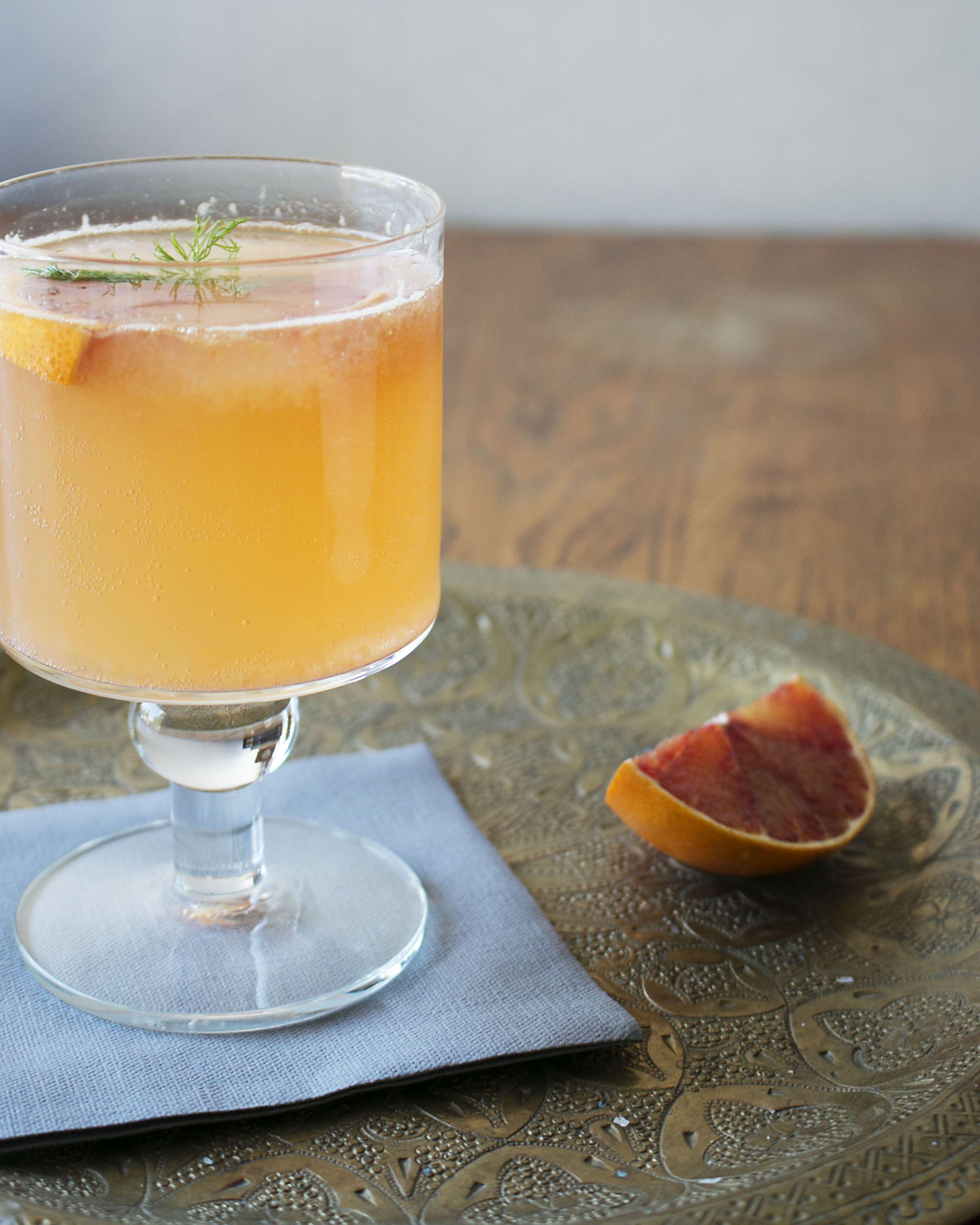 Bloodorange-fennel cocktail recipe