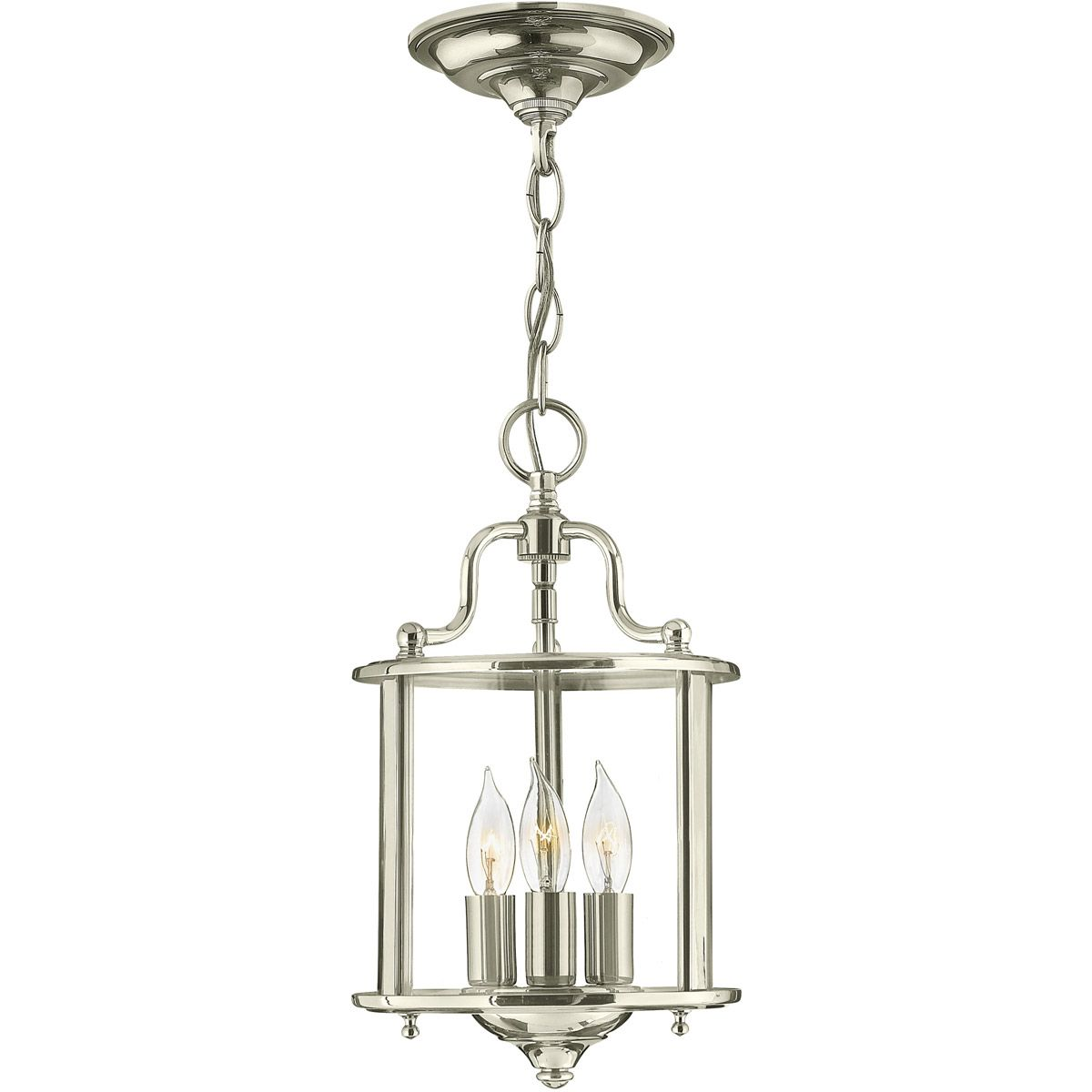 Hinkley 3470pn Gentry 3 Light 8 Inch Polished Nickel Foyer Light Ceiling Light Small Pendant Lights Pendant Light Ceiling Pendant