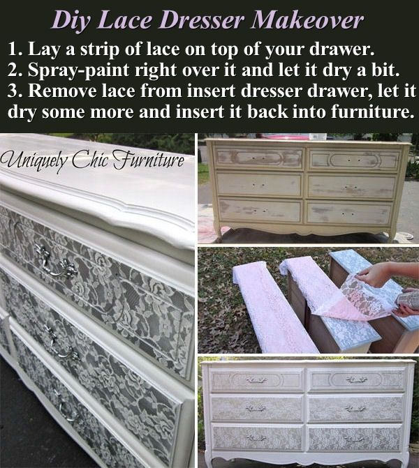 Diy Lace Dresser Makeover Pictures Photos And Images For Facebook Tumblr Pinterest