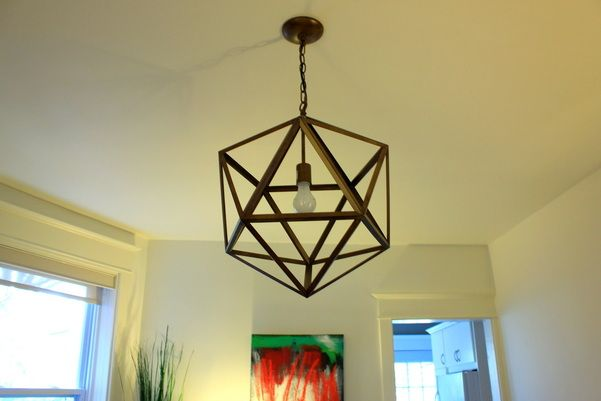 Our living room hexagon pendant light - great find from Home Sense ...