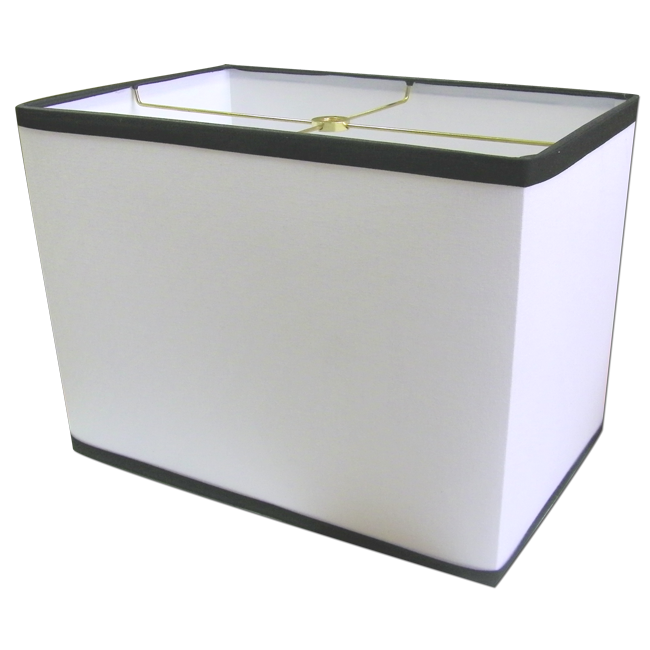 Contemporary Rectangular White Lamp Shade With Black Trim Rectangle Lamp Shade Rectangular Lamp Shades Replacement Lamp Shades