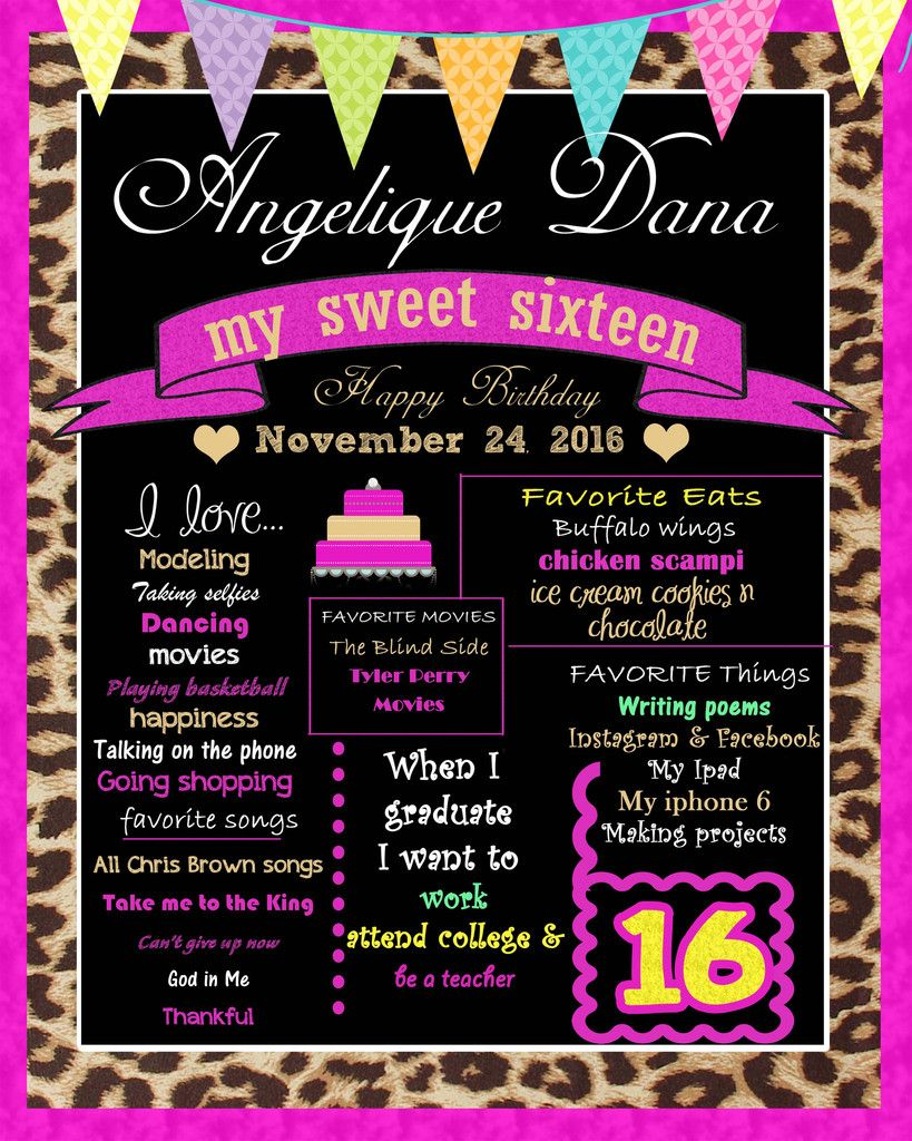 Sweet 16 Birthday Sign Sweet 16 Birthday Sweet 16 Activities Sweet Sixteen Parties