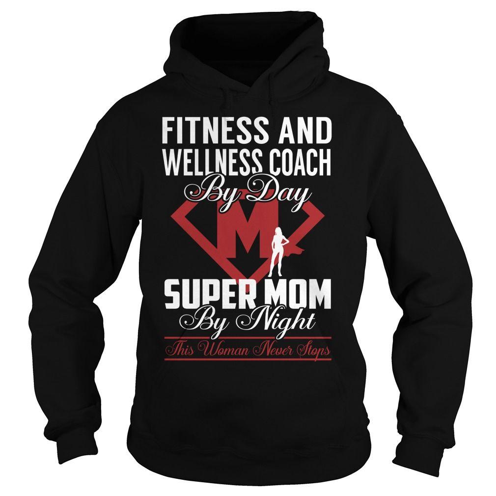 Fitness And Wellness Coach Super Mom Job Title TShirt