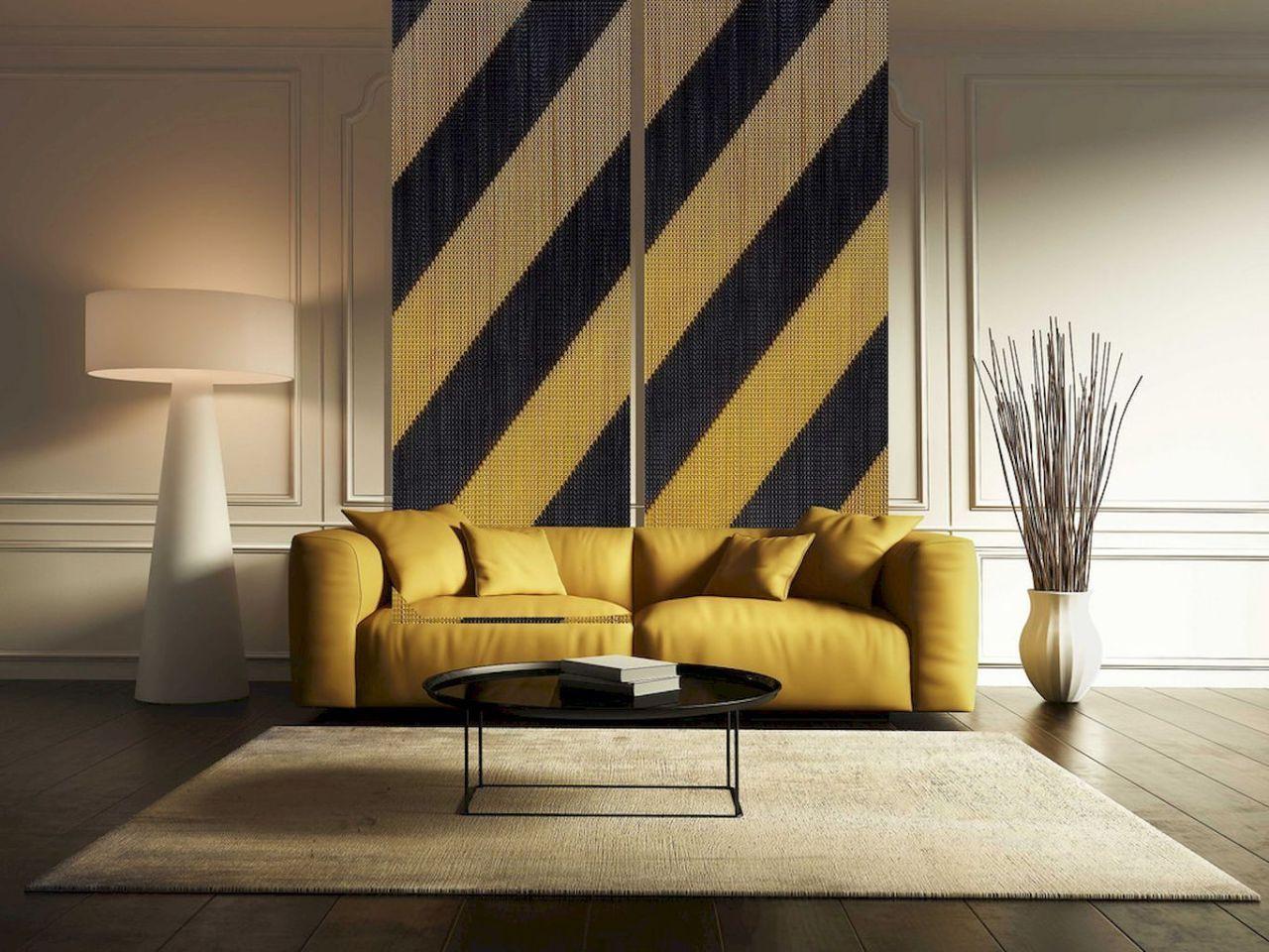 05 inspiring yellow sofas for living room decor ideas