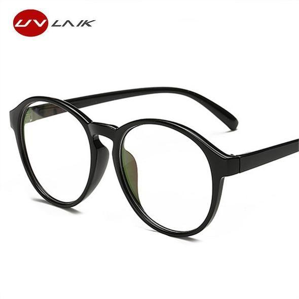 13f198a82a UVLAIK Myopia Glasses Frames Men Women Round Eye Glasses Vintage Oversized  Spectacle Frames Optical Clear Eyewear Frame