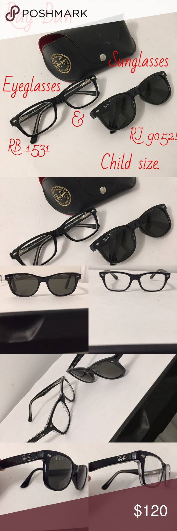 f1c670b8eef5 2 sets of child size Ray Bans