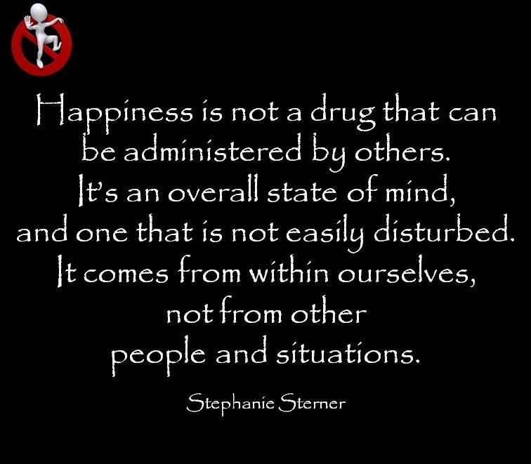 Happiness is an overall state of mind ...