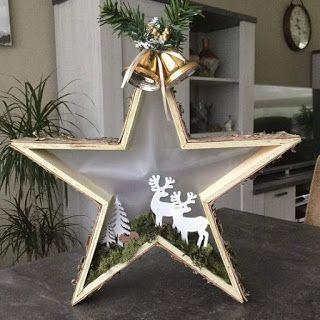 Ideas para hacer estrellas decorativas de madera para la navidad ~ cositasconmesh #weihnachtenholz