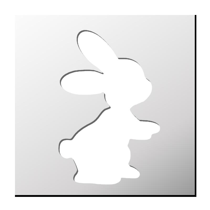 Pochoir lapin boutique pochoirs stickers pinterest stencils silhouette portrait et - Pochoir gratuit a imprimer ...
