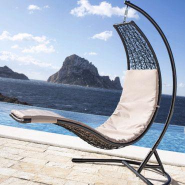 chaise suspendue jardin pinterest chaise suspendue. Black Bedroom Furniture Sets. Home Design Ideas