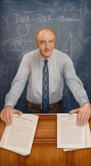 Francis Crick Portrait Unveiled To Honour Breakthrough Dna Work Biological Life Molecular Biology Dna