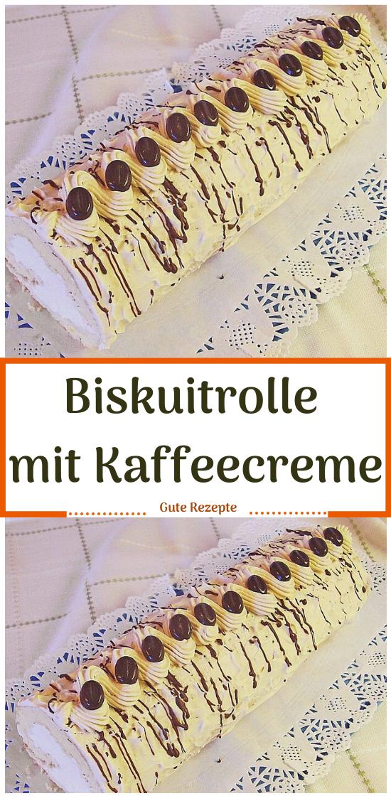 Photo of Biskuitrolle mit Kaffeecreme #Biskuitrolle #dessert rezepte beeren #dessert reze…