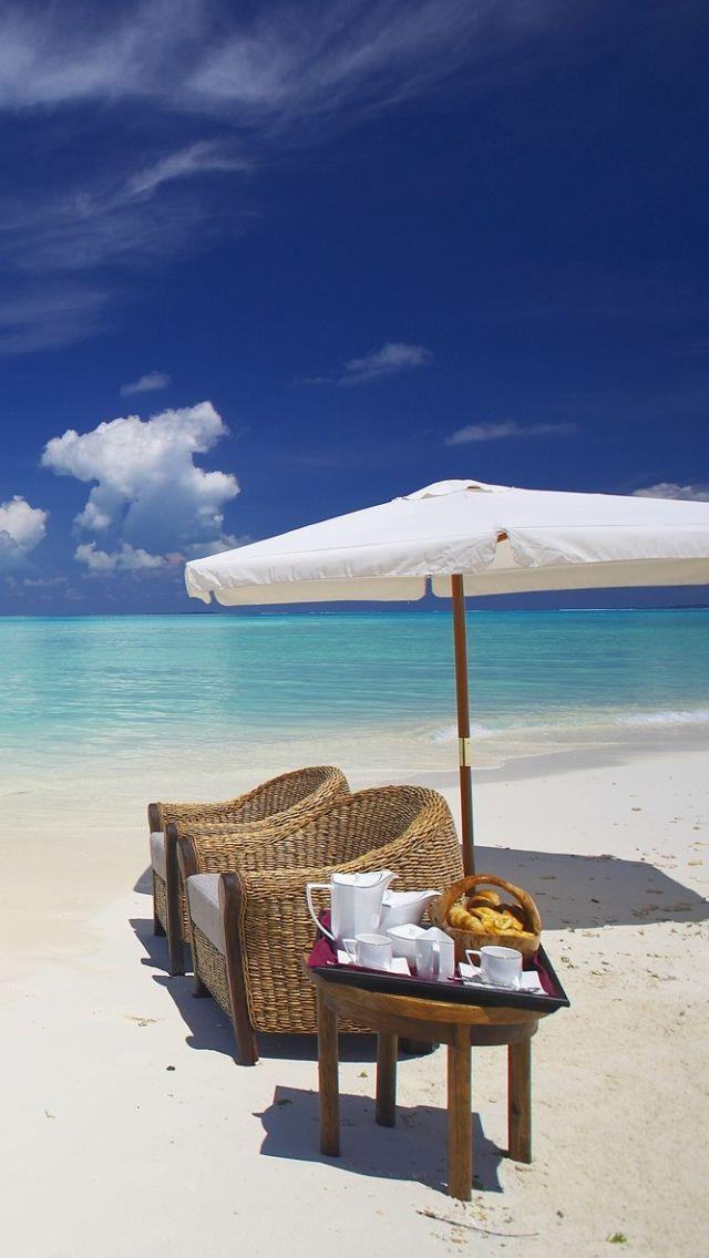Private Beach Maldives IPhone 5s Wallpaper