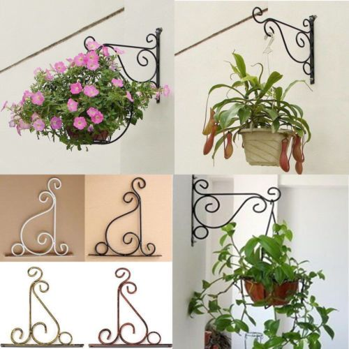 Iron Wall Light Hook Bracket Garden Hanging Basket Planter Lantern Hanger  Hook