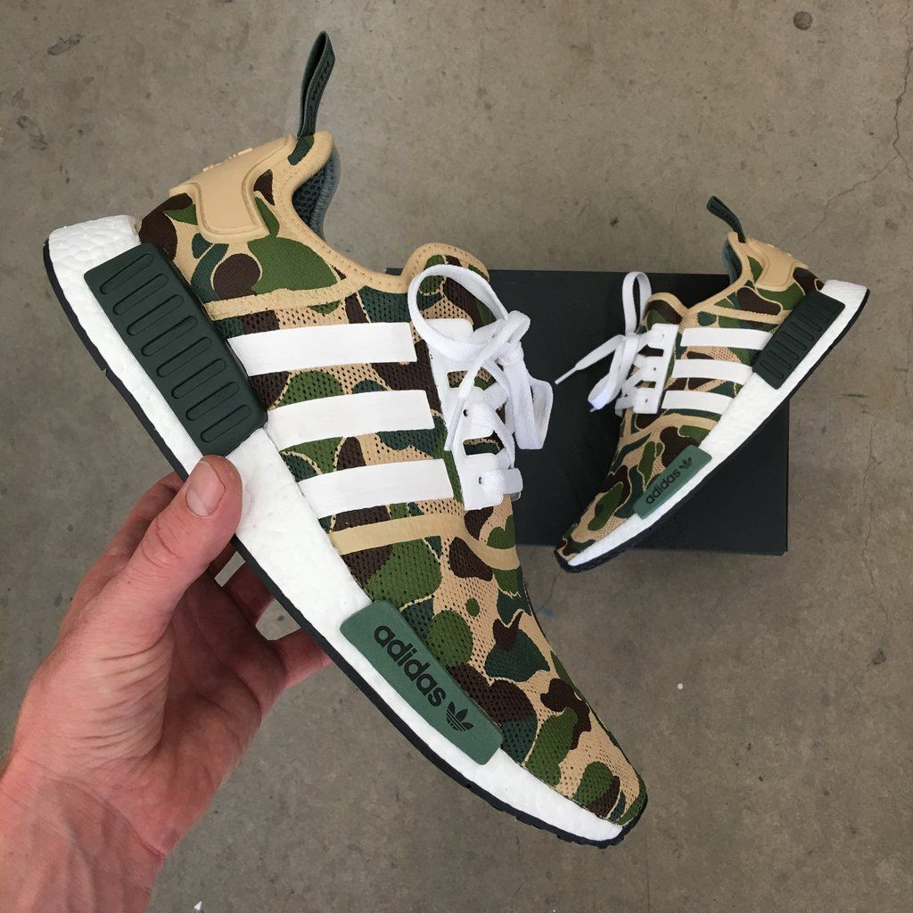 81daa093d7c0 BAPE Inspired Custom Painted Adidas NMD R1 in 2019