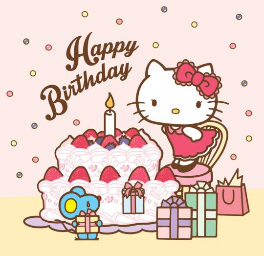 Hello kitty birthday hello kitty happy birthday cute happy birthday - Hello kitty birthday images ...