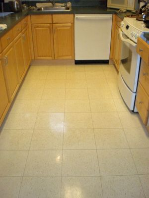 Clean kitchen Floor. Lemongrass cleaning product. Shine ...