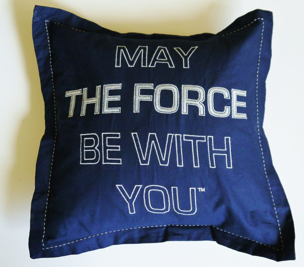 Ebay-Pottery Barn Kids Star Wars May The Force Be With You Sham New with Tags RARE #PotteryBarnKids