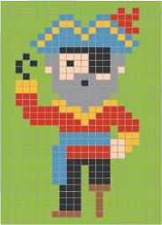 Coloriage Pixel Le Pirate à Imprimer Et à Colorier Grille