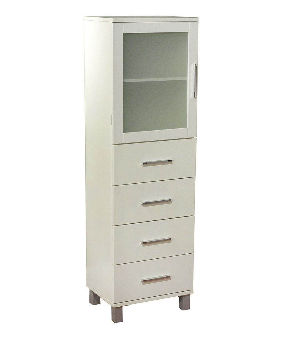 This Frosted Pane Four Drawer Linen Cabinet by Target Marketing ...