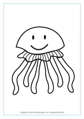 Jellyfish Colouring Page Fish Coloring Page Lion Coloring Pages Hello Kitty Colouring Pages